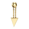 Double Ball Chain Triangle Drop Earring