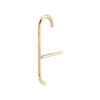 Solid Gold Thin Suspender Cuff Earring
