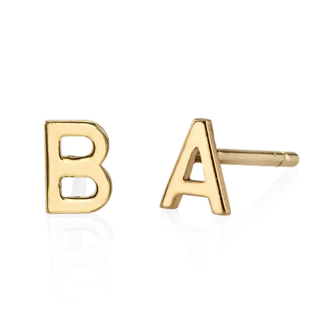 Gold Letter Studs