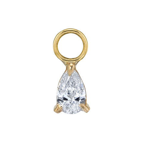 Pear Diamond Charm