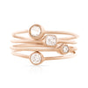 Rose Cut Diamond Stackable Ring