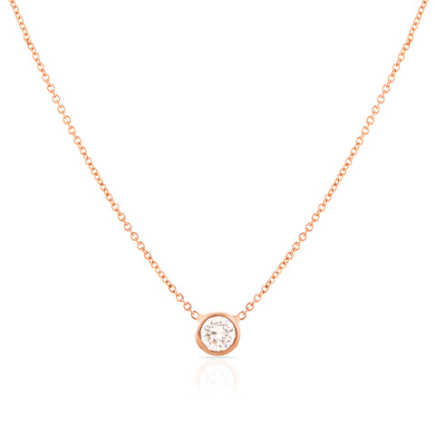 Round Brilliant Diamond Necklace