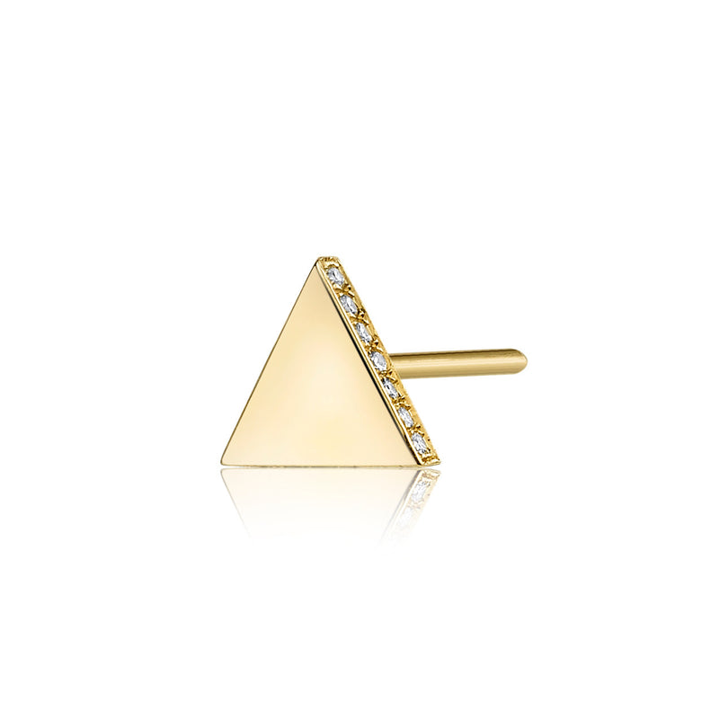 Pave Diamond Triangle Stud