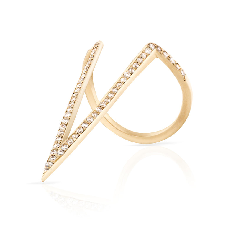 Pave Diamond V Ring