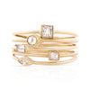 Baguette Cut Diamond Stackable Ring