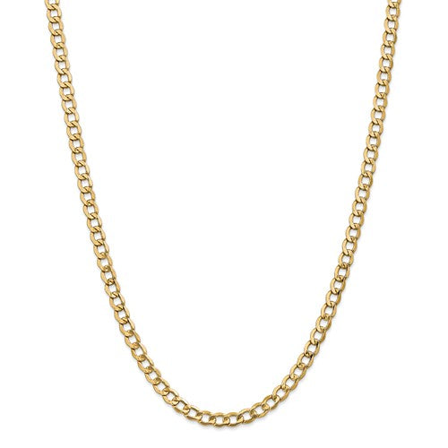 Gold Curb Chain - 5.25mm