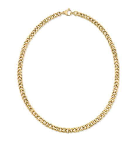 Gold Rounded Curb Chain - 5mm