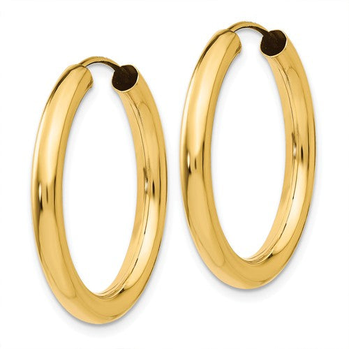 Gold Endless Tube Hoop Earring - 25mm