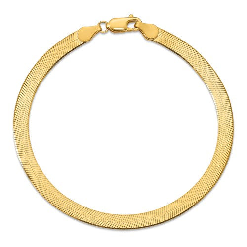 Silky Gold Herringbone Bracelet - 5mm