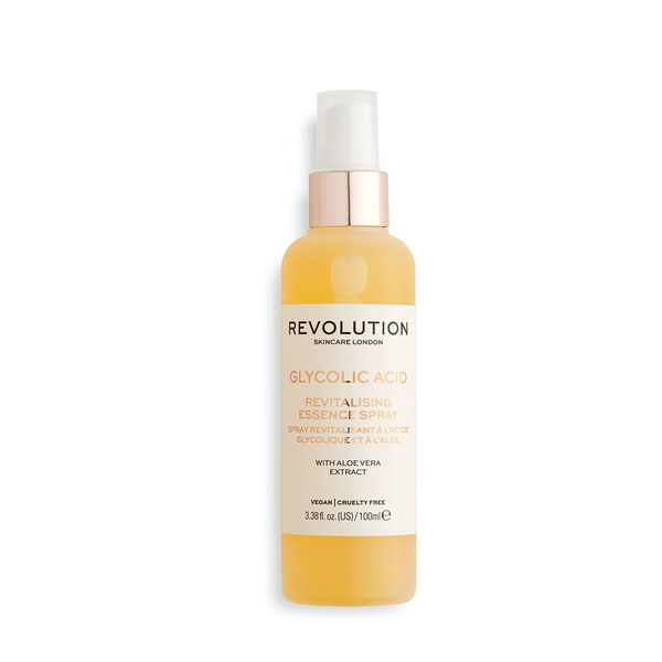 REVOLUTION SKINCARE GLIKOLIO RŪGŠTIS Glycolic & Aloe Essence Spray