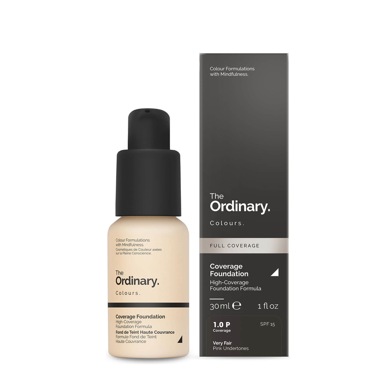 THE ORDINARY KREMINĖ PUDRA Coverage Foundation with SPF 15