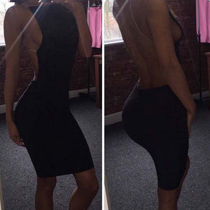 Backless Bodycon Dress - HipStore - Fashion Boutique