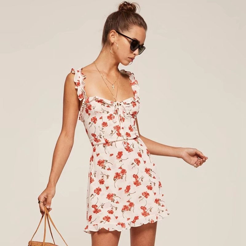 Summer Floral Ruffles Dress - HipStore - Fashion Boutique