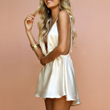 Silk Summer Mini Dress - HipStore - Fashion Boutique