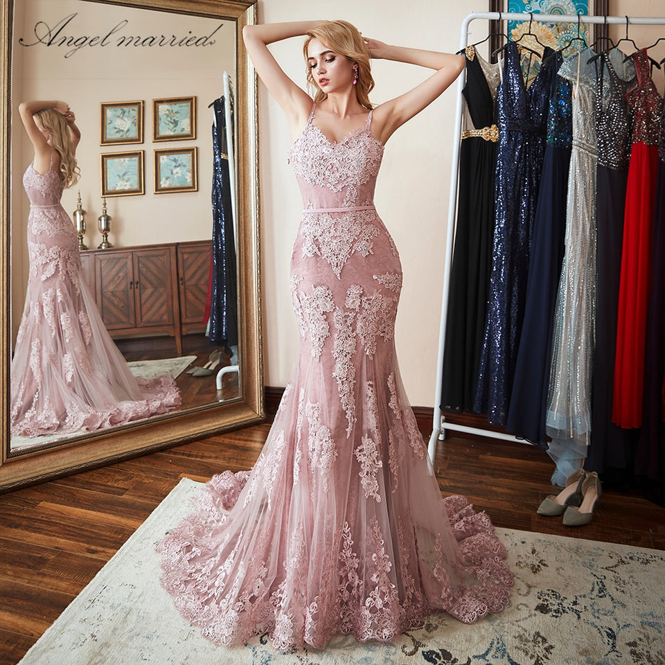 Lace Mermaid Prom Dress - HipStore - Fashion Boutique