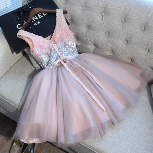 Pink Short Evening Dress - HipStore - Fashion Boutique