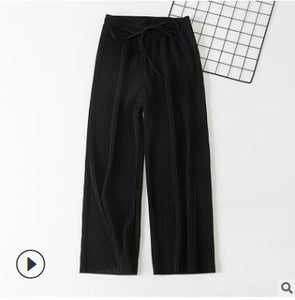 Wide Leg Trousers Black / One Size