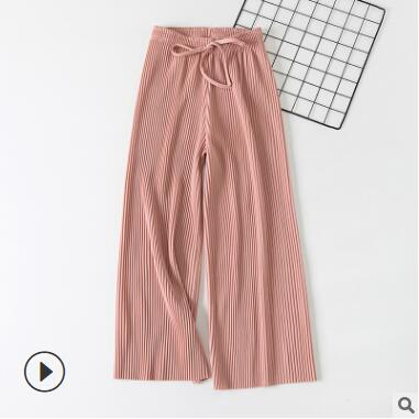 Wide Leg Trousers Pink / One Size