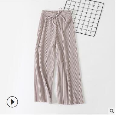 Wide Leg Trousers Gray / One Size