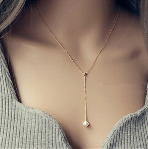 Simple Tassel Necklace - HipStore - Fashion Boutique