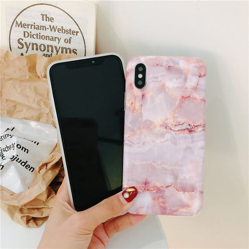 Pink Marble Silicon Case - HipStore - Fashion Boutique