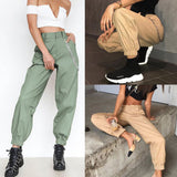 High Waist Cargo Pants with Chain - HipStore - Fashion Boutique