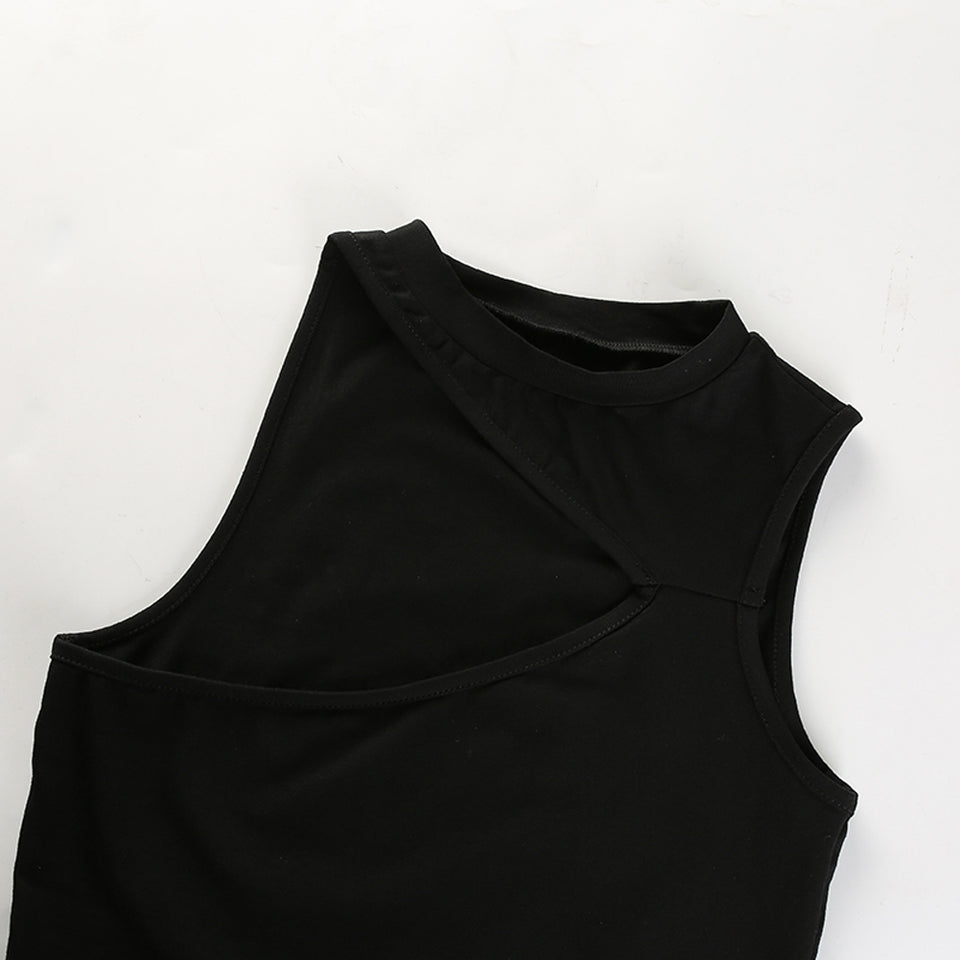 Sleeveless Asymmetrical Crop Top - HipStore - Fashion Boutique