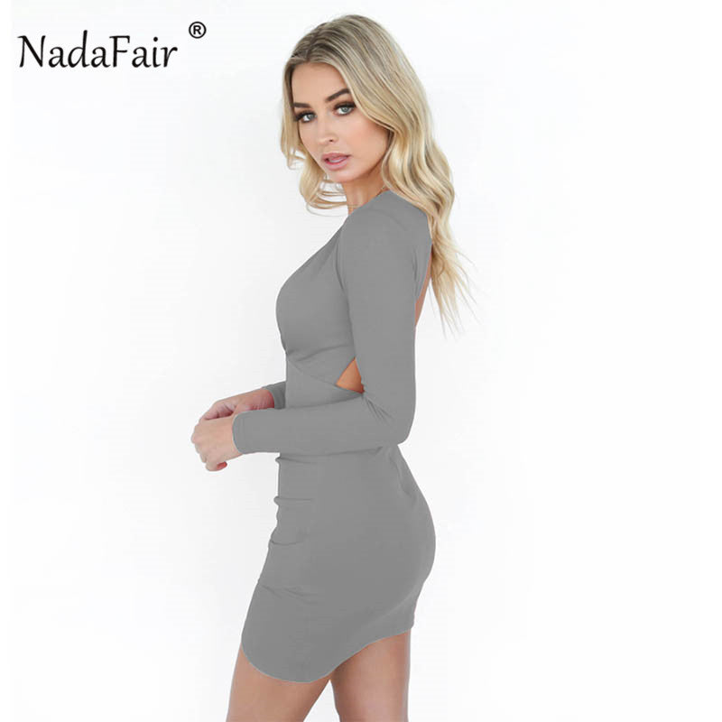 Deep V Neck Bodycon Dress - HipStore - Fashion Boutique
