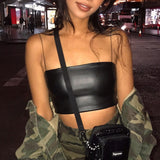 Leather Crop Top - HipStore - Fashion Boutique