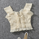Summer Lace Up Bustier - HipStore - Fashion Boutique