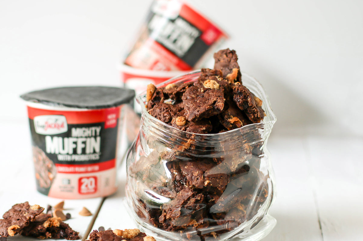 FlapJacked Chocolate Peanut Butter Granola Clusters