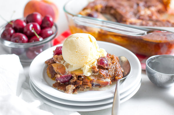 Cherry Peach Cobbler