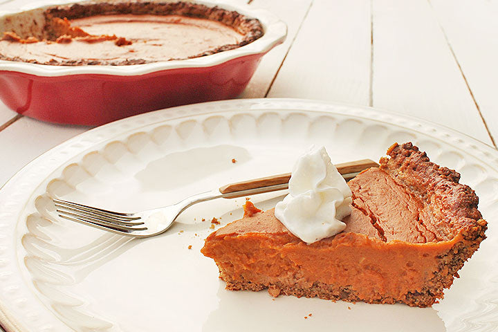Pecan-Crust Sweet Potato Pie