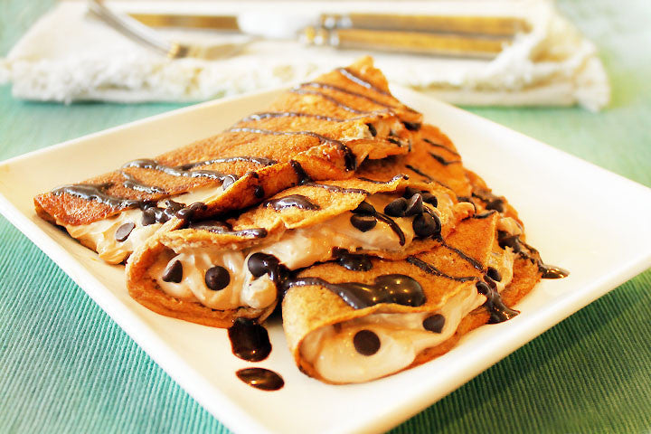 Hazelnut Coffee Crepes (with Creamy Coffee Filling)