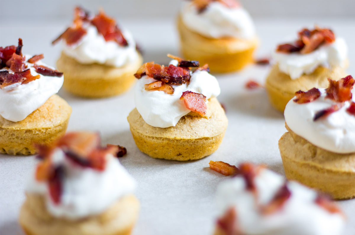Mini Maple Bacon Pancake Bites