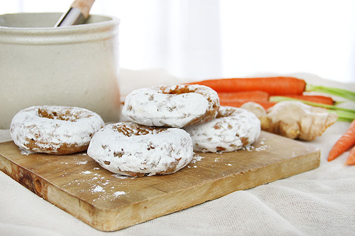 FlapJacked Ginger Carrot Doughnuts Recipe