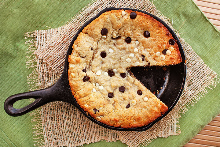 FlapJacked Skillet Chocolate Chip Cookie Cake Recipe