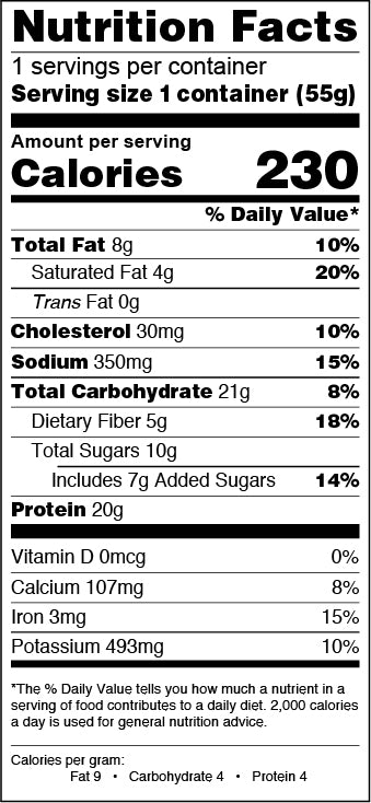 Double Chocolate Nutrition Facts