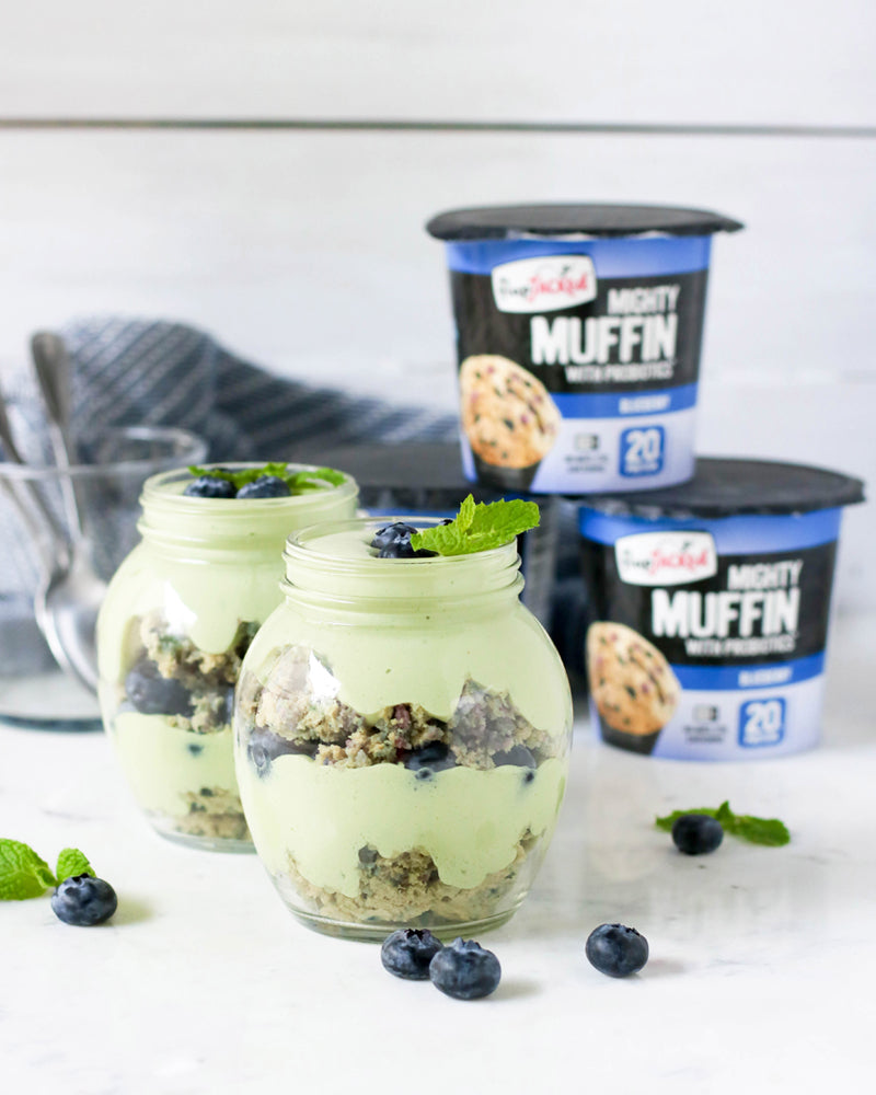 Matcha Blueberry Parfaits