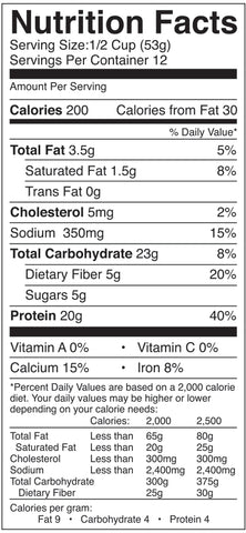 FlapJacked Gluten Free Protein Pancake & Baking Mix Nutrition Facts