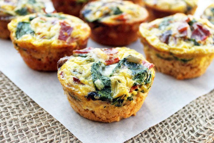 FlapJacked Spinach  Mushroom Quiche Cups
