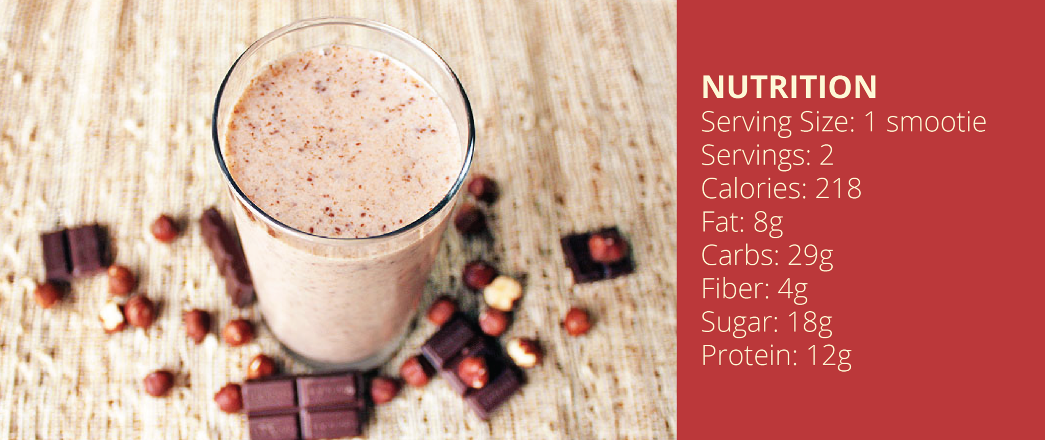 FlapJacked Chocolate Hazelnut Smoothie