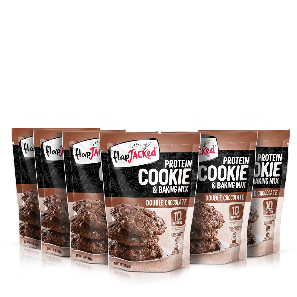 FlapJacked Double Chocolate Protein Cookie & Baking Mix 6 Pack