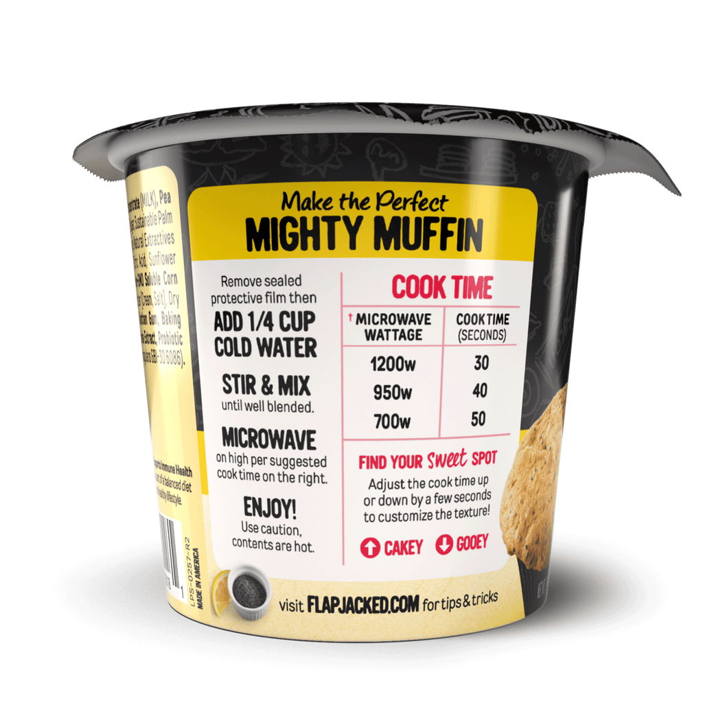 Lemon Poppy Seed Mighty Muffin - 12 Pack