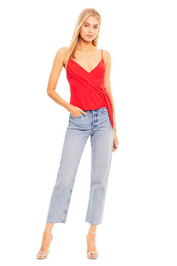 Amanda Uprichard Abbot Top - Red | Women's Tops