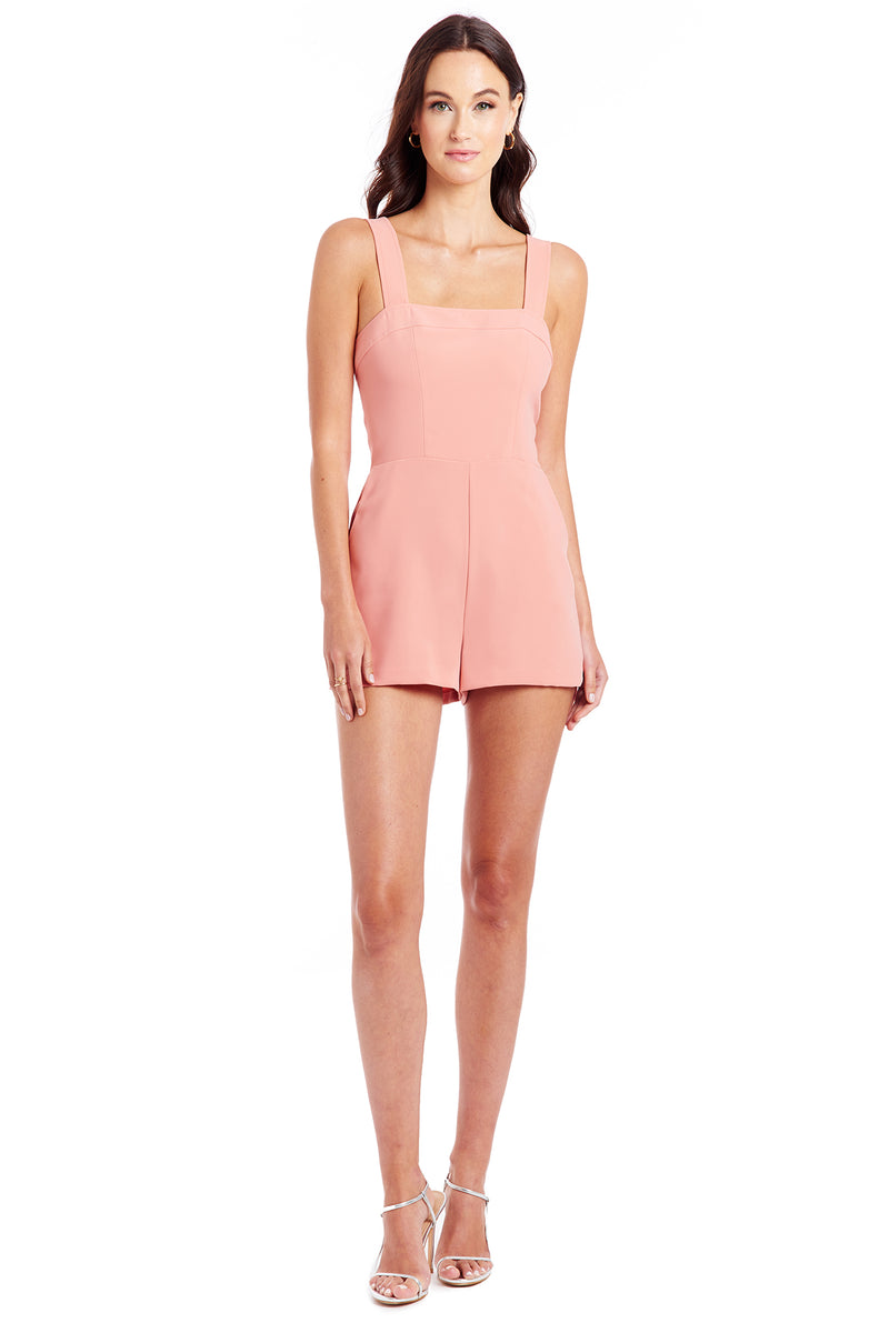 Amanda Uprichard Ace Romper - Coral Rose | Women's Rompers