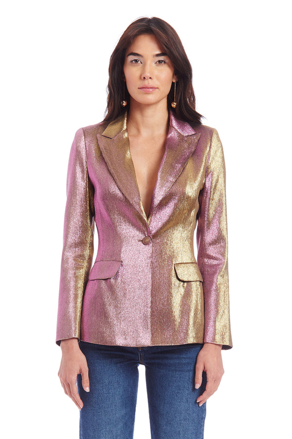 Amanda Uprichard Aldridge Blazer - Metallic Multi | Women's Blazers