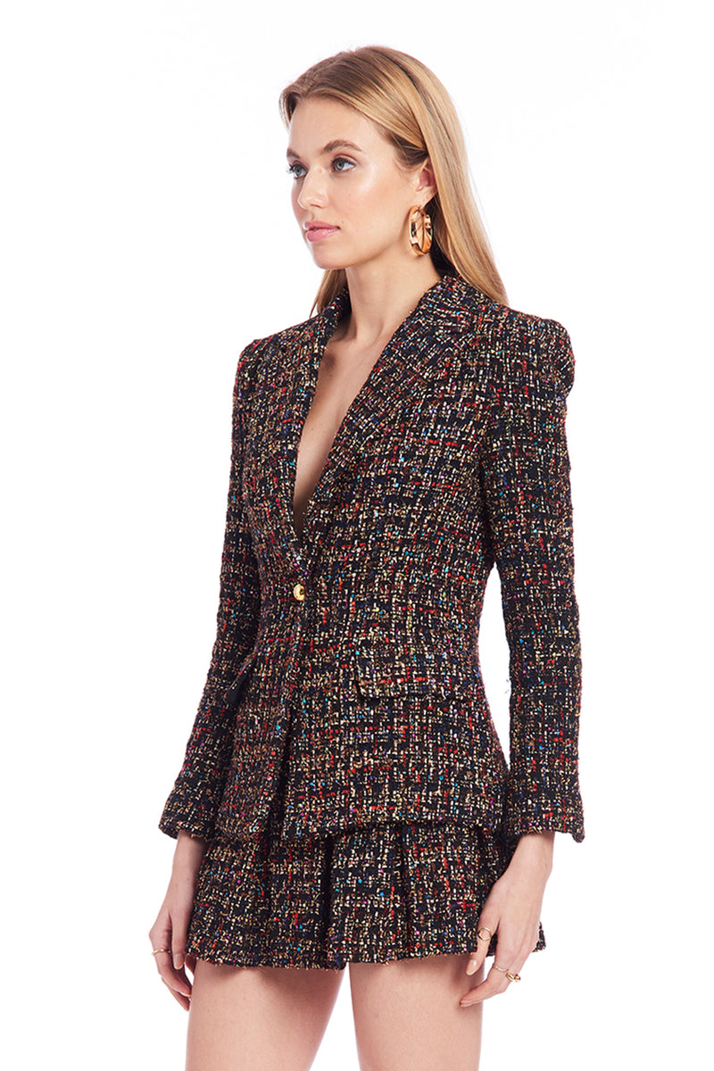 Amanda Uprichard Aldridge Blazer - Lyra Tweed | Women's Blazers