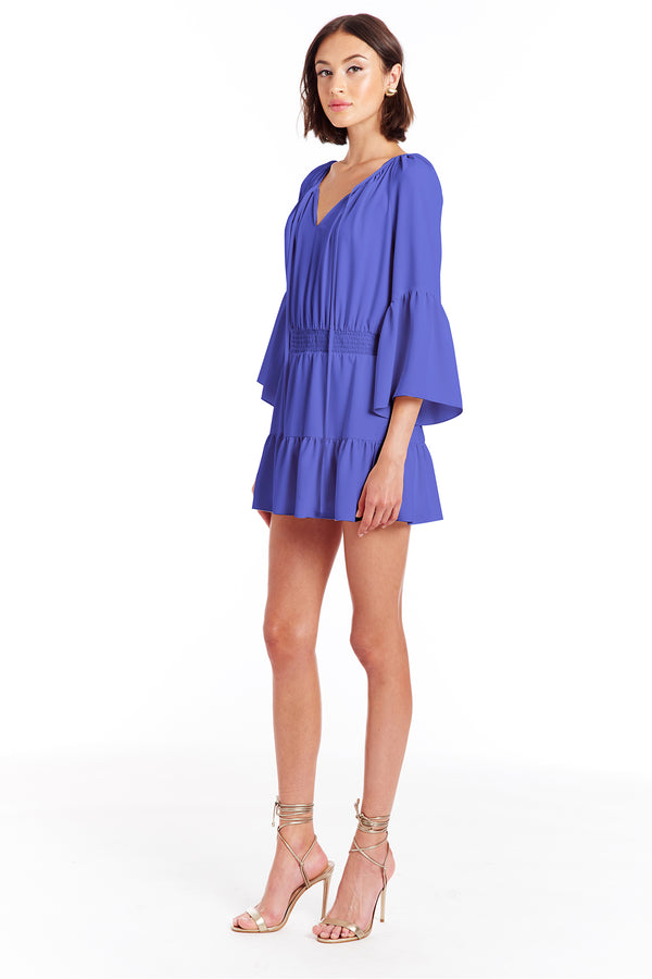 Amanda Uprichard Alena Romper - Nu Blue | Women's Rompers