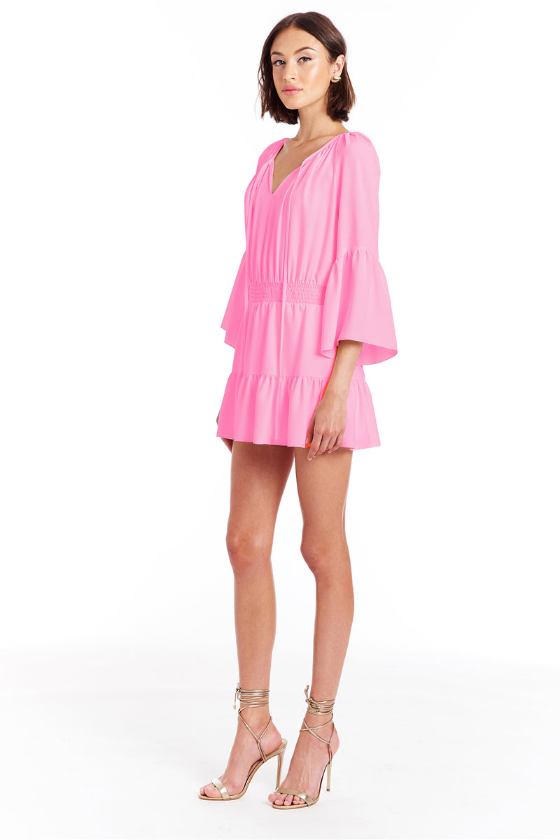 Amanda Uprichard Alena Romper - Shocking Pink | Women's Rompers